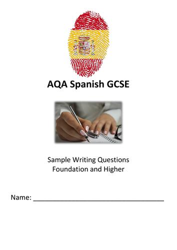 Spanish GCSE writing workbook - free sample by katelanguages