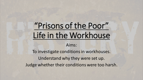 Life in a workhouse