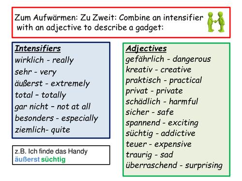 Edexcel GCSE German Stimmt Technologiefiend oder -freund?