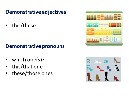 KS4 French: Demonstrative Adjectives & Pronouns (Clothes)