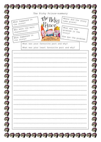 Guided Reading resources for Picky Prince