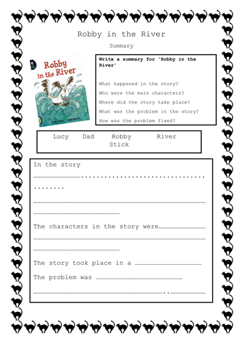 Robby in the River Guided Reading resources