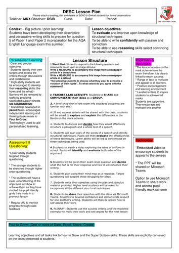 AQA English Language Papers 1 and 2: Question 5 by MatthewKnox