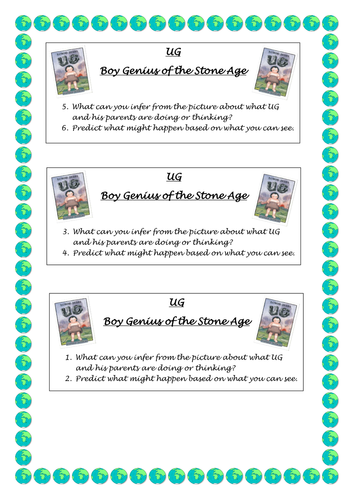 UG Boy genius of the Stone Age Guided Reading Resources