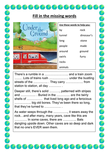 Under the Ground Guided Reading resources
