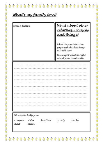 What's my family tree? Guided Reading resources