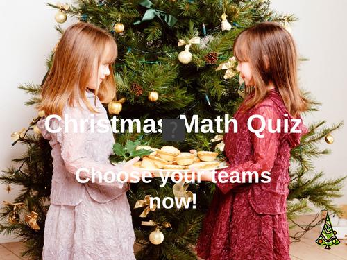 Christmas Maths Quiz; Christmas Pudding (Year 3/4)