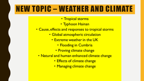 Tropical storms introduction