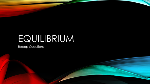Re-introduction to Equilibrium