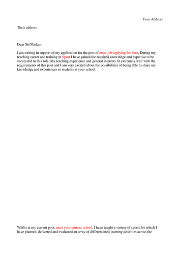 Teacher Personal Statement Template