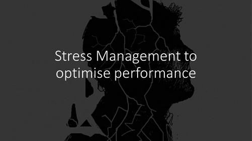 Stress Management to Optimise Performance OCR A Level PE 2016 Sports Psychology