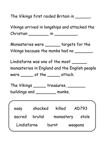 History KS2 Facts about Lindisfarne