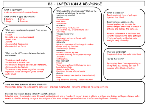 Infection and response aqa b1 topic 3 quick fire questions 9 1 b3 infection response revision new aqa gcse spec publicscrutiny Images