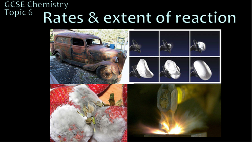 AQA 9-1 GCSE Science/Chemistry - Rate & Extent of reactions (PPT + worksheets)