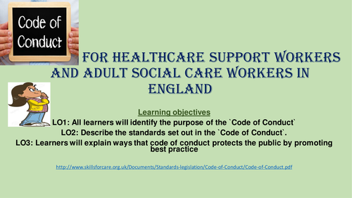 Unit 2 Working in H & Sc Code of Conduct [New Spec]
