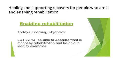 Unit 2 Working in H & Sc Rehabilitation [New Spec]