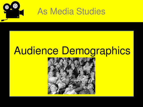 AS Level Media Audience Demographics.
