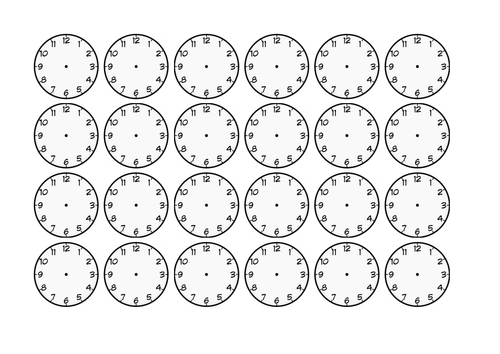 24 blank clock faces by xwizbt teaching resources tes. Black Bedroom Furniture Sets. Home Design Ideas