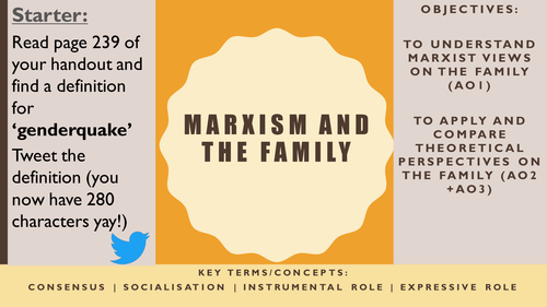 AQA AS Sociology- Families and Households: Marxism