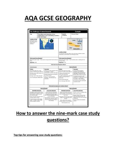 GCSE Interactive Geography Case Study Guide by Bsnewbury     SP ZOZ   ukowo