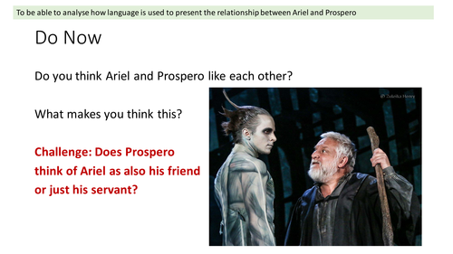 Prospero and Ariel's Relationship - The Tempest