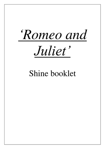 Romeo and Juliet academic non fiction booklet - GCSE Literature, Shakespeare