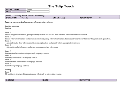 The Tulip Touch SoL