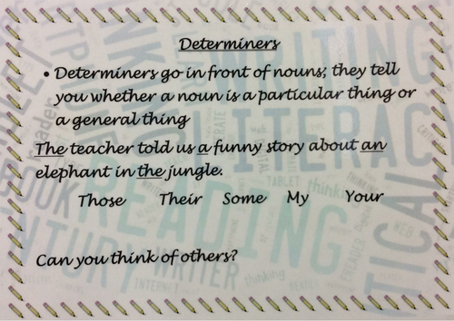 Determiners Poster