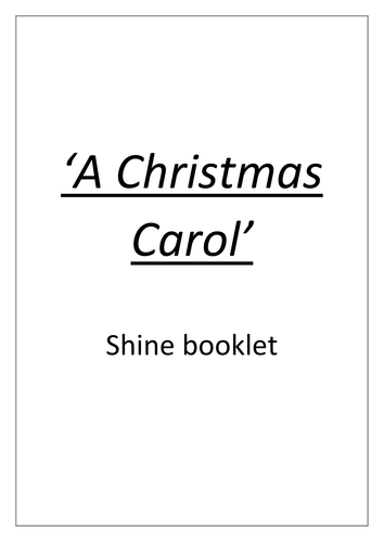 'A Christmas Carol' academic non fiction booklet - GCSE Literature, Dickens