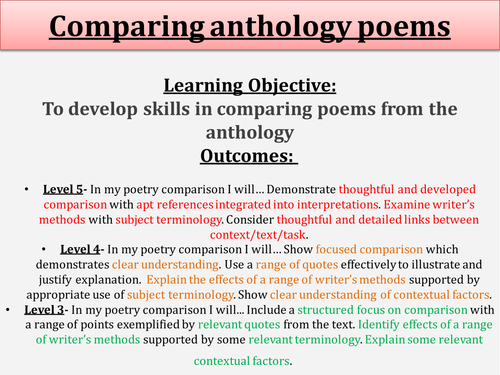 How to write an essay comparing 3 poems