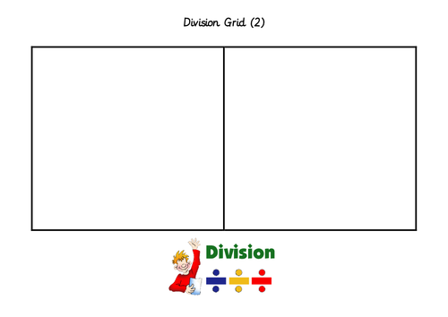 Division Grids for use during concrete methods of maths.