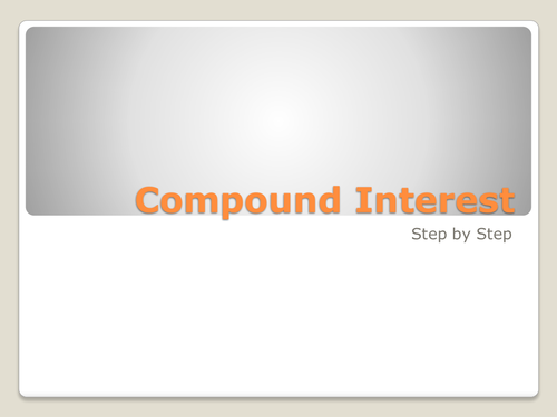 Step-by-step worked examples of Compound Interest