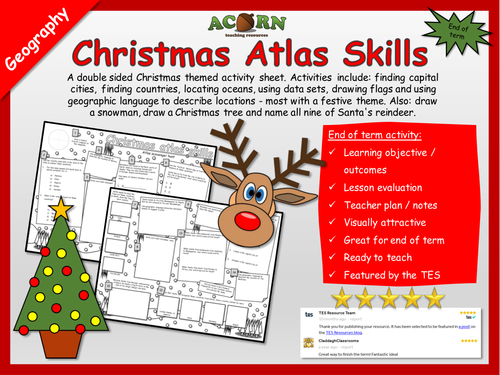 Christmas Atlas Skills - Geography