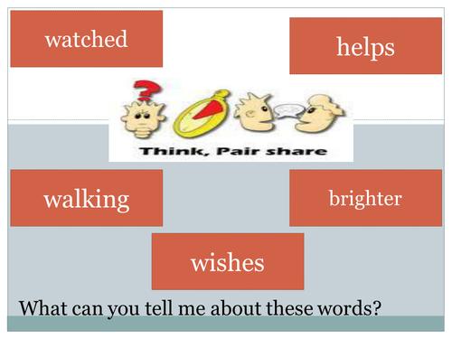 Plural noun suffixes lesson (year 1)