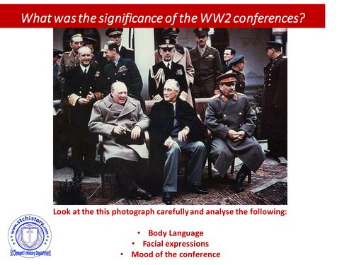 Edexcel 9-1: Cold War - WW2 Conferences - Tehran, Yalta & Potsdam (EDITABLE)