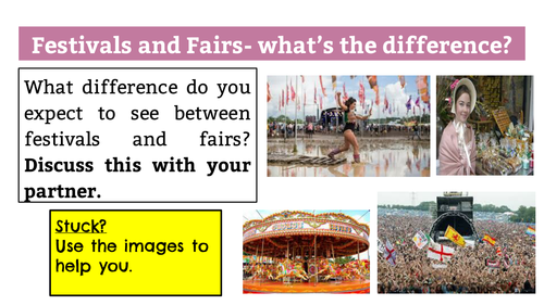 AQA GCSE Paper 2 Reading Section: Festivals and Fairs Resources