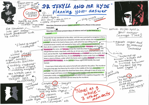 Free Resource for Jekyll and Hyde – Model Answer on Chapter 4, annotated