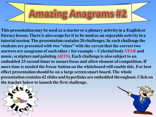 Extend your Vocabulary Anagram Challenge #2