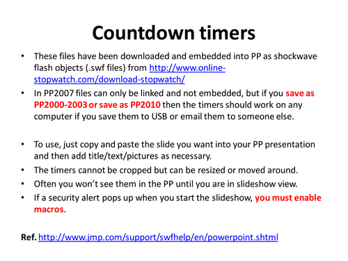 countdown timers by rcdworrell teaching resources tes