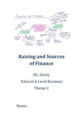 Edexcel A Level Business - Theme 2 Entire Unit Resources