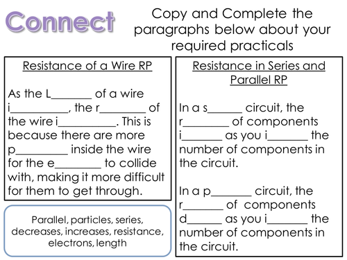 Component Characteristics Lesson