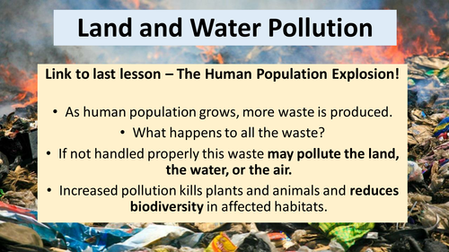 AQA GCSE Biology B7 Ecology - Land and Water Pollution