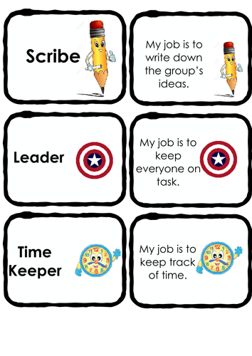 Group Task Role Cards