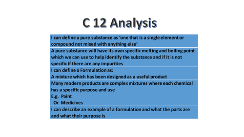 NEW 9-1 GCSE Chemistry AQA course Topic C12 full resources for teachign all of the work.