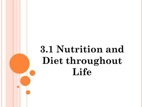 Nutrients Powerpoint and Activities