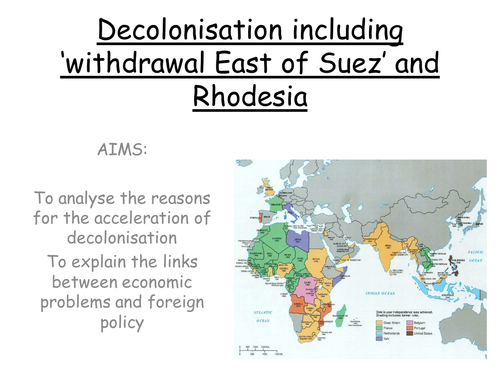 AQA A level modern Britain 1951-2007, Wilson's foreign policy, Decolonisation and Rhodesia