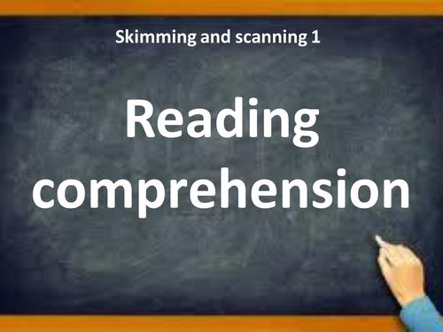 skimming and scanning revision for upper ks2👍
