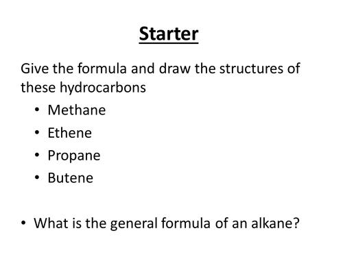 Cracking of alkanes (GCSE Chem)