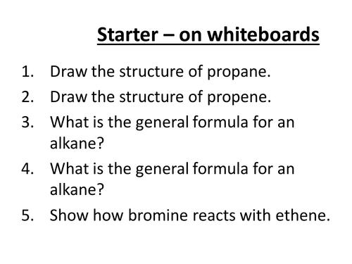 Structure & Reactions of Alcohols (GCSE chem)
