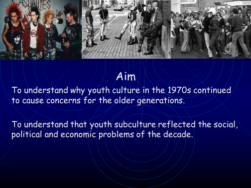 AQA A level modern Britain, Youth culture and environmentalism in the 1970s